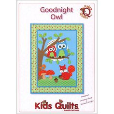 GOODNIGHT OWL Wall Quilt Pattern Cute Children's