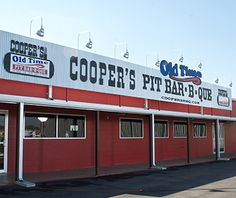 Completely the trifecta, Coopers Old Time Pit Bar-B-Que in New Braunfels, Texas, was also named to Travel+Leisure's list of America's Best New BBQ! At this New Braunfels replica of the Llano mothership, barbecue-obsessed Texans queue for mesquite-smoked ribs, chops, and brisket—plus, sausage, sirloin, and whole chicken.
