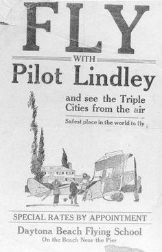 Florida Memory - Handbill from Daytona Beach Flying School