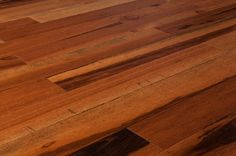 BuildDirect – Hardwood - Exotic South American Collection – Natural Tigerwood - Angle View