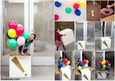 The best surprise diy gift idea Balloon Surprise, Surprise Box, Birthday Party Decorations, Birthday Parties, Happy Birthday, Boyfriends 21st Birthday, Diy Box, Diy Projects, Gifts