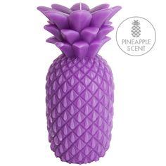 パイナップルキャンドルパープルL Pineapple Candle L