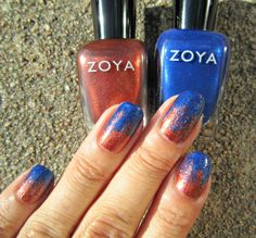 Concrete and Nail Polish: Sponge Gradient With Zoya