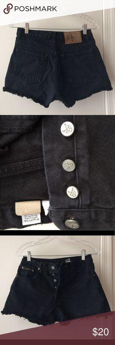 Calvin Klein cut off shorts Vintage worn in cut offs. Good length, has all buttons. Calvin Klein Jeans Shorts Jean Shorts