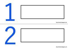 Actividad para reforzar los números en la clase de ELE con pequeños. Los niños deben colocar el nombre del número en el recuadro correspondiente. Los números del 0 al 5 y del 6 a 10 se han dividido en dos colores, azul y rojo, para facilitar la tarea.