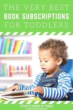 The Best Book Subscriptions For Toddlers | Book subscription services for kids, toddlers, and preschoolers. Book boxes for kids. Board books and picture book sub boxes. Toddler Books, Childrens Books, Two Years Old Activities, Book Boxes, Book Subscription, Tired Mom, Kids Board, Experience Gifts, Kids Lighting