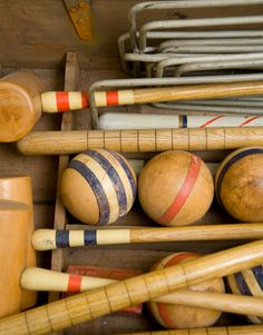 well used croquet set
