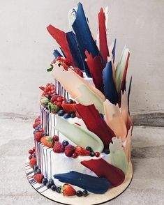 """These Insanely Gorgeous """"Brushstroke"""" Cakes Are Like Edible Works of Art 