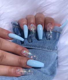 Pin by Lisa Firle on Nageldesign - Nail Art - Nagellack - Nail Polish - Nailart - Nails Aycrlic Nails, Swag Nails, Manicures, Stiletto Nails, Nail Design Glitter, Nails After Acrylics, Summer Acrylic Nails, Clear Acrylic Nails, Acrylic Nail Designs Coffin