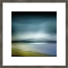 Abstract Landscape Scotland Framed Print featuring the photograph In And Out Of Time by Lynne Douglas