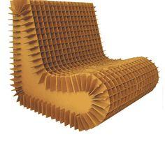 Cardboard chair.