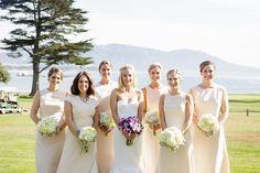 B R I D E S B A B E S – NATALIE DEAYALA COLLECTION STUNNING PEBBLE BEACH WEDDING. BRIDESMAIDS DRESSES BY NATALIE DEAYALA