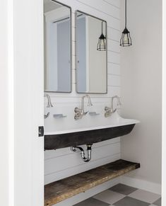 25 Ideas For Bathroom Lighting Farmhouse Trough Sink Upstairs Bathrooms, Small Bathroom, Bathroom Ideas, Modern Bathroom, Remodled Bathrooms, Farmhouse Bathrooms, Bathroom Stuff, Bathroom Renovations, Bathroom Interior