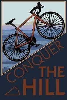 Conquer the Hill, mountain bike poster