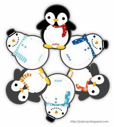 Jinjerup: Freebie of the week: Christmas Penguin & Snowmen Bookmarks