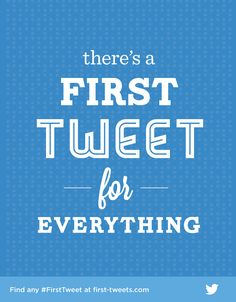 "My first tweet was ""Checking my email."" LOL!   Ah, memories… Find your #FirstTweet at first-tweets.com."