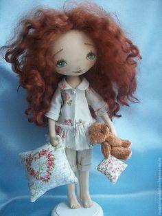 Купить Кукла Сонечка - рыжий, текстильная кукла, кукла ручной работы, кукла в подарок