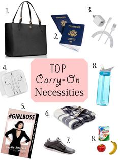 Amazing article on what to pack in your carry-on tote! Must Read!!!