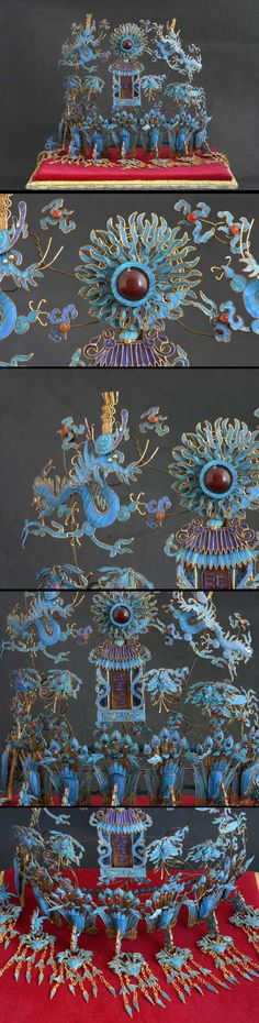 China | Kingfisher headdress / crown | ca. Ming Dynasty (1368 - 1644 AD) or no later than early-Qing Dynasty | 22'000$