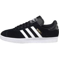 Adidas Originals Mens Gazelle 2 Trainers Black/White UK Sizes 8 - 11