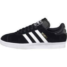 Adidas Originals Mens Gazelle 2 Trainers Black/White UK Sizes 8 - 11