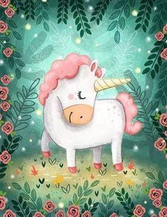 She is Unicorn Art Print by beautifique - licorne - illustration Real Unicorn, Cute Unicorn, Rainbow Unicorn, Baby Unicorn, Unicorn Drawing, Unicorn Art, Unicorn Painting, Unicorn Illustration, Illustration Art