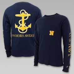 """This vintage inspired long sleeve T from League will be welcomed with open arms. The super soft wash gives this T a lived in feel! &nbsp  100% Cotton Pocket on front left chest Water based ink used for the screen printed designs front back and sleeve has a soft hand """"US Navy"""" down the left sleeve Machine washable"""
