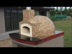 HOW TO BUILD,MAKE A HOMEMADE WOOD FIRED,CLAY BRICK PIZZA OVEN - YouTube