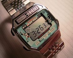 Retro Watches, Old Watches, G Shock Watches, Vintage Watches, Watches For Men, Nerd Chic, The Last Laugh, Watch Ad, Digital Watch