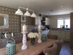 A traditional kitchen design with adjoining space so you can relax and enjoy your meal. Long Melford, New Homes For Sale, Traditional Kitchen, Kitchen Design, Relax, Interiors, Space, Table, Furniture