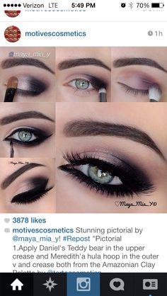 Gorges blue eyes!! I u want to do this makeup then u should have Tha rest of ur makeup lighter.