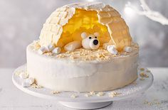 How to make an igloo smash cake : Making this great Igloo crush cake Cupcakes, Cupcake Cakes, Igloo Cake, Christmas Cake Decorations, Icing Decorations, Cake Slicer, Tesco Real Food, Cooking Chocolate, Cherry Cake