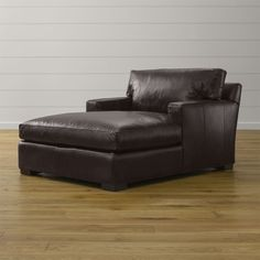 Axis II Leather Chaise Lounge - Crate and Barrel