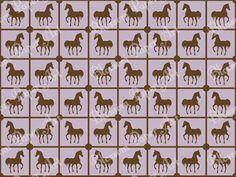 Violet Horses - Squares - Digital Paper - Scrapbooking - Scrapbook - Printables - Clipart - 12x12 inches - Blossom Paper Art