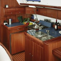 kitchen on a boat http://www.sailboat-interiors.com/ http://www.sailboat-interiors.com/store