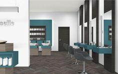 Suggestion for Hairdresser Havana, Pine, Conference Room, Table, Furniture, Black, Design, Home Decor, Pine Tree