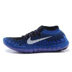Nike Free Flyknit 3.0 Mens Shoes Black / Sapphire $77.00
