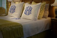 Wonderful fabric choices and a monogram to boot!  Lovely!