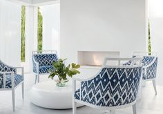 Indira from Solstice Collection Outdoor Fabric, Indoor Outdoor, Summer Loving, Nautical, Accent Chairs, Furniture Design, Outdoors, Group, Pattern