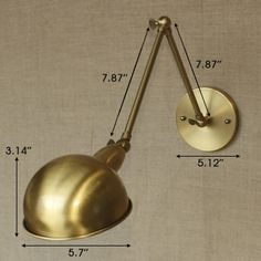 aged brass 1 light swing arm wall sconce