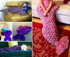 Mermaid Crochet Blanket - Find a Free Pattern via 'Mad Hooker' in our post