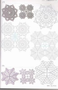 Книга 300 мотивов часть 3 / Вязание крючком / Женская одежда крючком. Схемы.