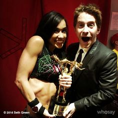 WWE Diva of the year  AJ Lee and Oz!