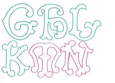 Molde de letras grandes y originales. | RECREAR - MANUALIDADES - ARTE