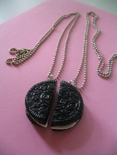 Best Friends Forever Oreo Cookie Necklaces