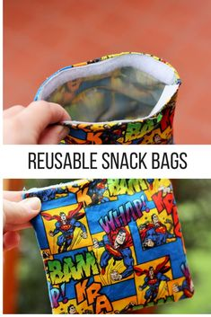 "Reusable snack bags are an easy sewing project to help you live a more sustainable life. ""Green up"" your lunchboxes, diaper bags, and purses. via @https://www.pinterest.com/frugalbychoice/"