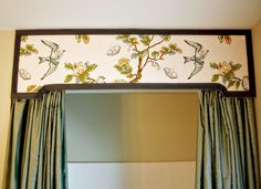 A short tutorial on how to make a shower curtain cornice