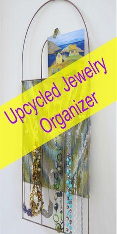 Upcycled Jewelry Organizer