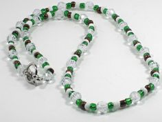 Multiple Color Seed Bead Beaded Necklace by cynhumphrey on Etsy, $18.99