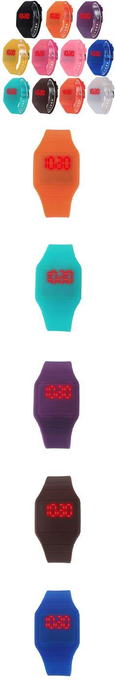 2016 New Brand Waterproof Kids Watch Fashion Sports LED Digital-watch Geneva Silicone Jelly Children Digital Watches for Women